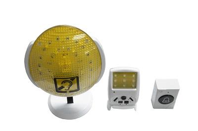 无线数码多功能闪光门铃(含无线震动器)L-131806