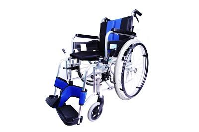 铝合金手推轮椅车MPTWSW-47JL(活动扶手搁脚 靠背翻折  坐宽44CM)