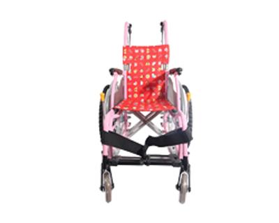 铝合金儿童手推轮椅车MKD-S(固定扶手搁脚 坐宽28CM)