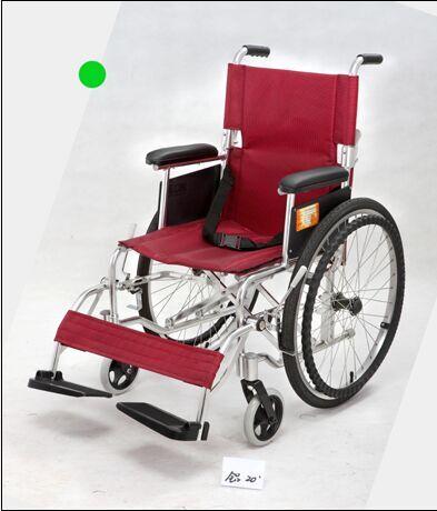 铝合金手推轮椅车  轻便型 480F53=LB-4 (脚踏可拆,实心小轮,大轮可拆卸)