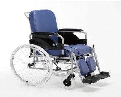 钢铝坐便手推轮椅车9300(活动扶手、座位宽度39/43/46)