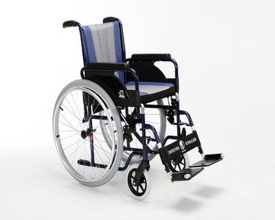 钢铝手推轮椅车708D(活动扶手、搁脚坐宽39/42/44/46/48/50CM)