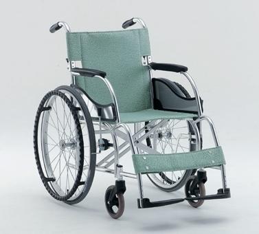 轻型铝合金轮椅车MW-SL1(固定扶手搁脚 座宽38/40/42/44cm)