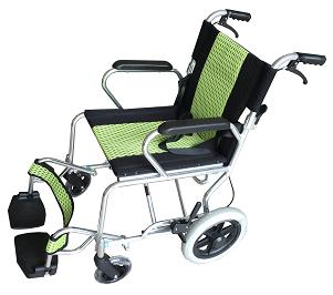 铝合金儿童手推轮椅车FS-1A11(座宽40CM固定扶手活动搁脚)