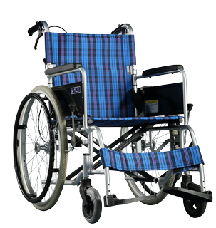 铝合金手推轮椅车SY2-BM-45(固定扶手和搁脚座宽45cm)