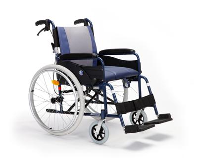 铝合金手推轮椅车依可立X1坐便轮椅,固定扶手搁脚座宽42/46cm)