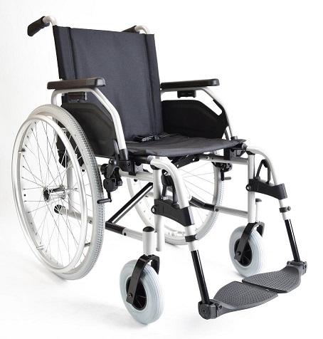 铝合金手推轮椅车480F53_V1(活动扶手搁脚座宽38\41\43\45cm)