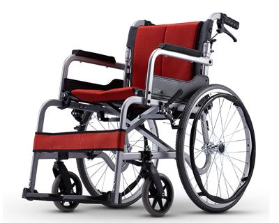 铝合金手推轮椅车  SM-150.5C F22(座宽45cm固定扶手搁脚)