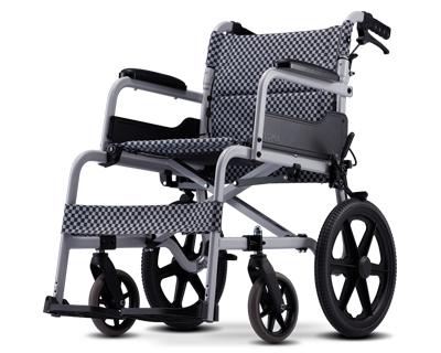 铝合金介护型手推轮椅车  SM-150.5