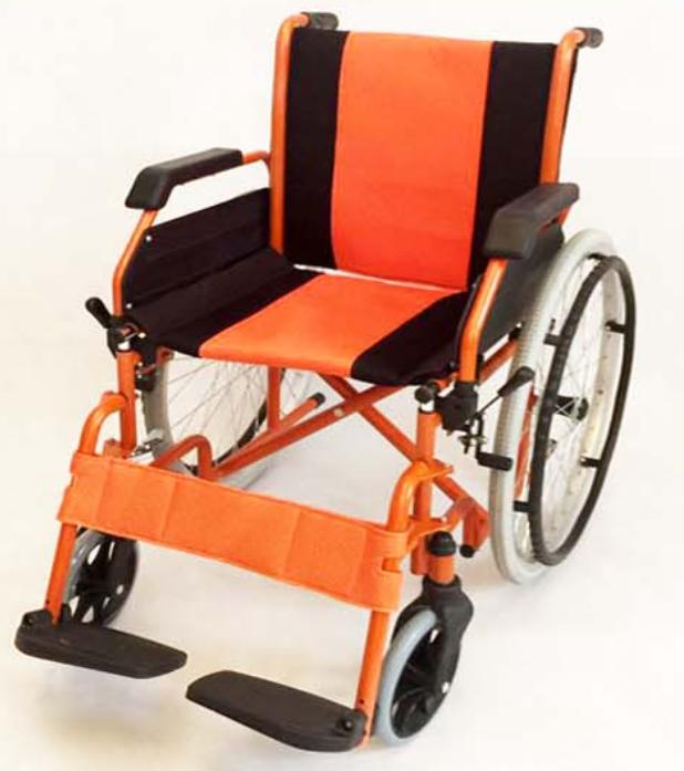 铝合金手推轮椅车SYIV75-KFL5(活动扶手和搁脚座宽46cm)