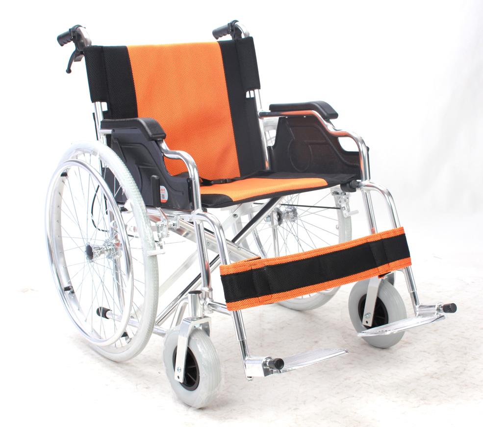 铝合金手推轮椅车FS864L(固定扶手搁脚座宽41\46\51cm)